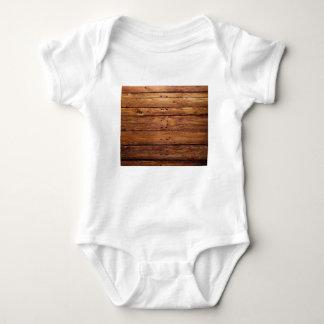 Body Para Bebê assoalho de madeira