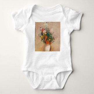 Body Para Bebê Assortion das flores no vaso