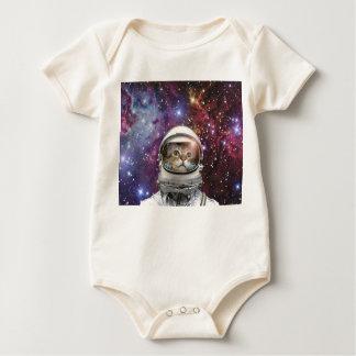Body Para Bebê Astronauta do gato - gato louco - gato