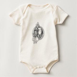 Body Para Bebê Athena com a coruja no Cir do circuito eletrônico