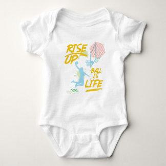Body Para Bebê Aumente acima. A bola é vida. Treinador de Baller