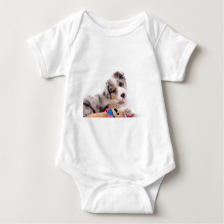 Body Para Bebê Australian shepherd puppy