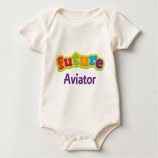Body Para Bebê Aviador (futuro) para a criança
