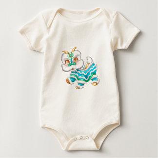 Body Para Bebê Azuis bebés chineses do dragão do ano novo