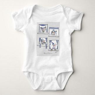 Body Para Bebê azuis do cão do futebol do futebol para sempre
