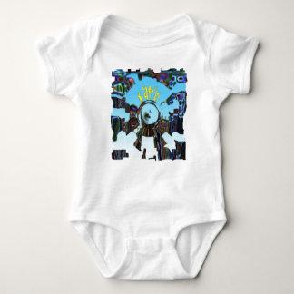 Body Para Bebê Azul abstrato