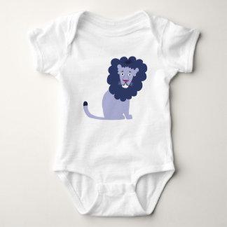 Body Para Bebê Azul azul do leão