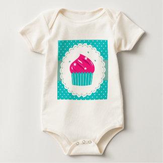 Body Para Bebê Azul azul surpreendente do rosa do cupcake