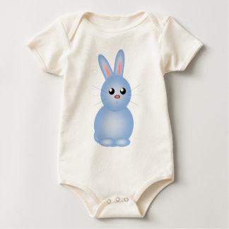 Body Para Bebê Azul Bunnise do felz pascoa