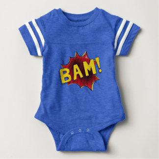 Body Para Bebê Azul cómico do BAM do presente do bebê do bodysuit