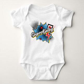 Body Para Bebê AZUL cómico do presente do bodysuit do super-herói