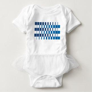 Body Para Bebê Azul do inclinação