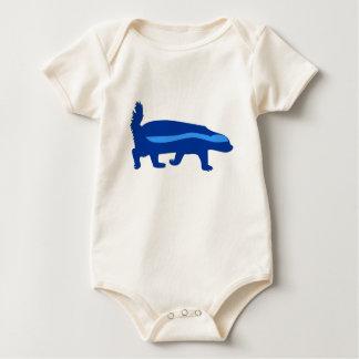 Body Para Bebê azul do texugo de mel