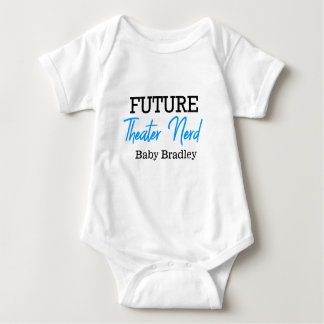 Body Para Bebê Azul futuro do nerd do teatro personalizado