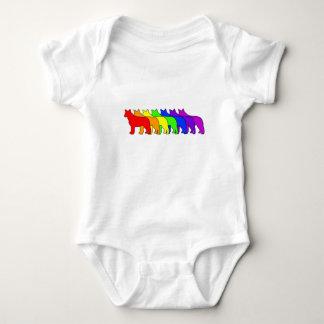 Body Para Bebê Azul Heeler do arco-íris