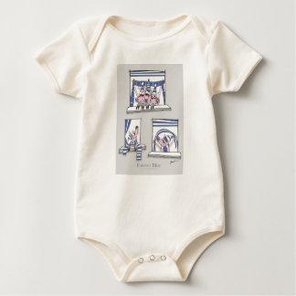 Body Para Bebê azul leitão do forever
