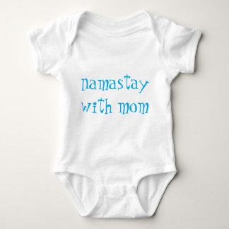 Body Para Bebê Azul na criança branca de Namastay
