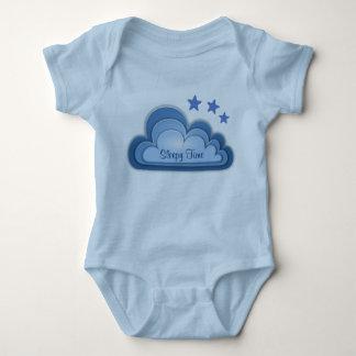 Body Para Bebê Azul sonolento bonito ou branco do rosa da menina