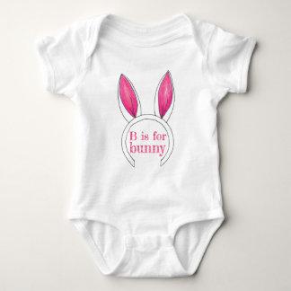 Body Para Bebê B é para a páscoa branca das orelhas de coelho do