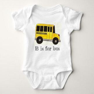 Body Para Bebê B é para o alfabeto da educação do auto escolar do