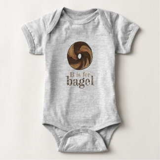 Body Para Bebê B é para o alfabeto da letra B de Rye Foodie do