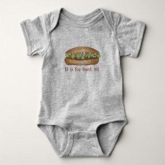 Body Para Bebê B é para o sanduíche vietnamiano da carne de porco