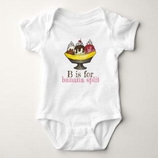 Body Para Bebê B é para o Sundae Foodie do sorvete da separação