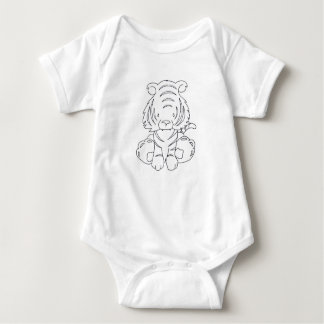 Body Para Bebê Baby Tigre - Color Yourself