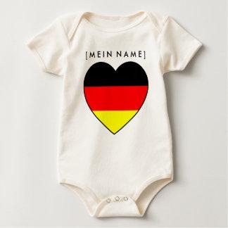 Body Para Bebê Babybody coração de nome Alemanha ao MUNDIAL 2010