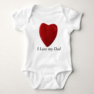 Body Para Bebê Babybody j Love my Dad com coração