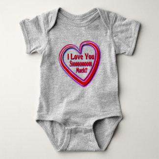 Body Para Bebê Babysuit unisex com texto do amor