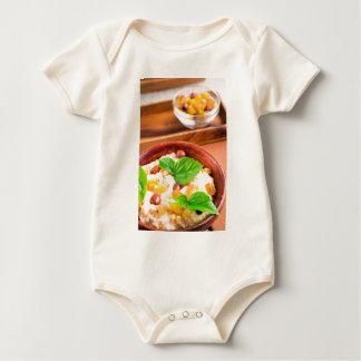 Body Para Bebê Bacia de madeira velha de farinha de aveia