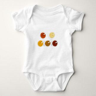 Body Para Bebê Bacias da porcelana com as várias especiarias