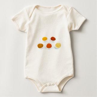 Body Para Bebê Bacias da porcelana com diversos especiarias do