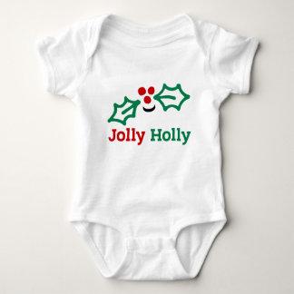 Body Para Bebê Bagas e folhas alegres de sorriso do azevinho