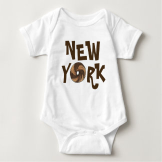 Body Para Bebê Bagels de mármore Foodie do Bagel da Nova Iorque