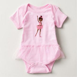 Body Para Bebê Bailarina bonito da princesa afro-americano
