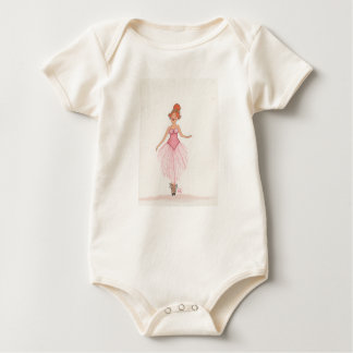 Body Para Bebê Bailarina da aguarela