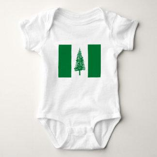 Body Para Bebê Baixo custo! Bandeira da ilha Norfolk