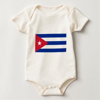 Body Para Bebê Baixo custo! Bandeira de Cuba