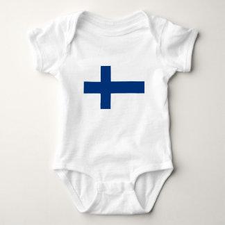 Body Para Bebê Baixo custo! Bandeira de Finlandia