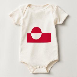 Body Para Bebê Baixo custo! Bandeira de Greenland
