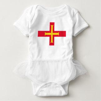 Body Para Bebê Baixo custo! Bandeira de Guernsey