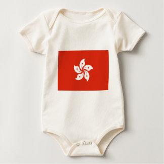 Body Para Bebê Baixo custo! Bandeira de Hong Kong