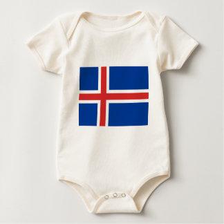 Body Para Bebê Baixo custo! Bandeira de Islândia