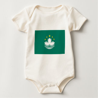 Body Para Bebê Baixo custo! Bandeira de Macau