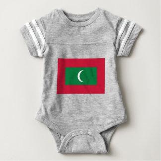 Body Para Bebê Baixo custo! Bandeira de Maldives