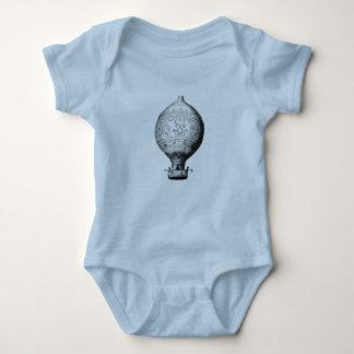 Body Para Bebê Balão de ar quente do vintage de Montgolfier