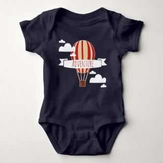 Body Para Bebê Balão & nuvens de ar quente da aventura