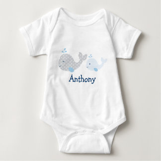 Body Para Bebê Baleia bonito